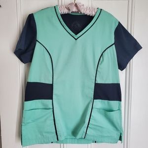 Health Pro Teal Scrub Shirt